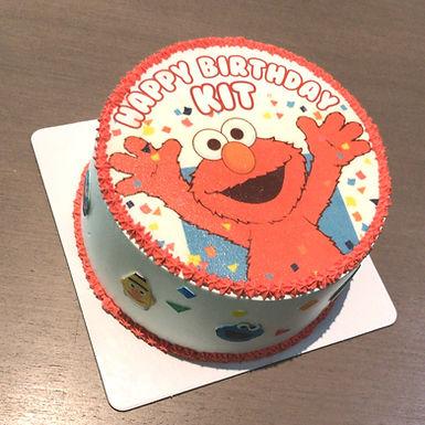 Elmo  繽紛數碼打印 Cream Cake