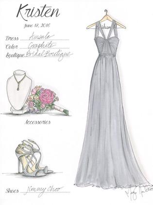 Bridesmaid Gift Illustration