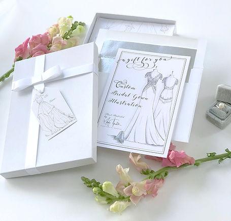 Custom Bridal Gow Illustation Gift Certificate