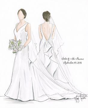 Full Body Bridal Gown Illustration