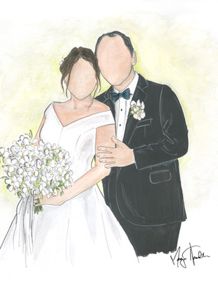 Bride & Groom Illustration