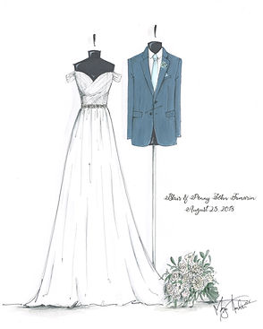 Custom Bride & Groom Illustration