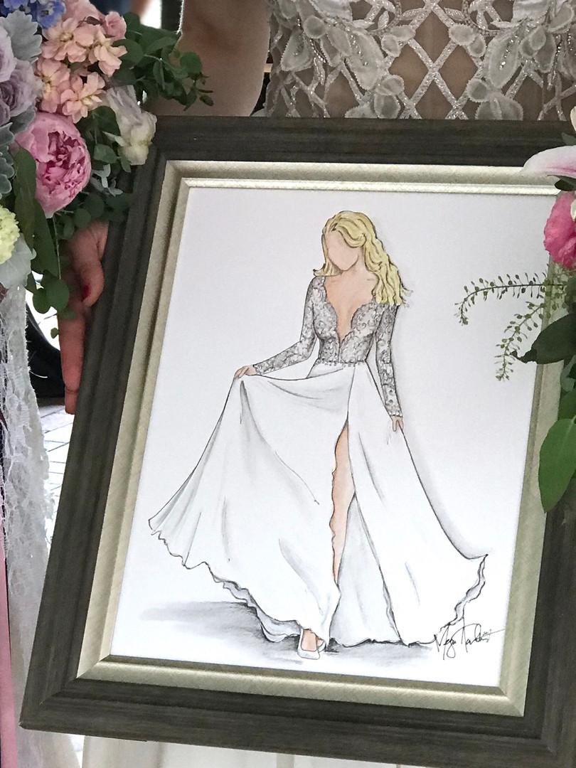 Full Body Bridal Gown Illustration