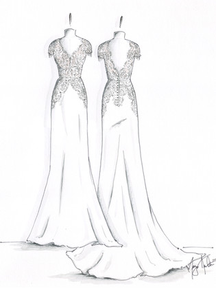 Bridal Gown Illustration