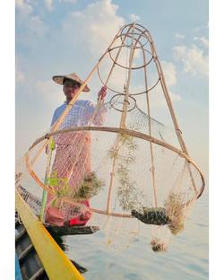 Intha Fisherman.Inle lake, Myanmar.