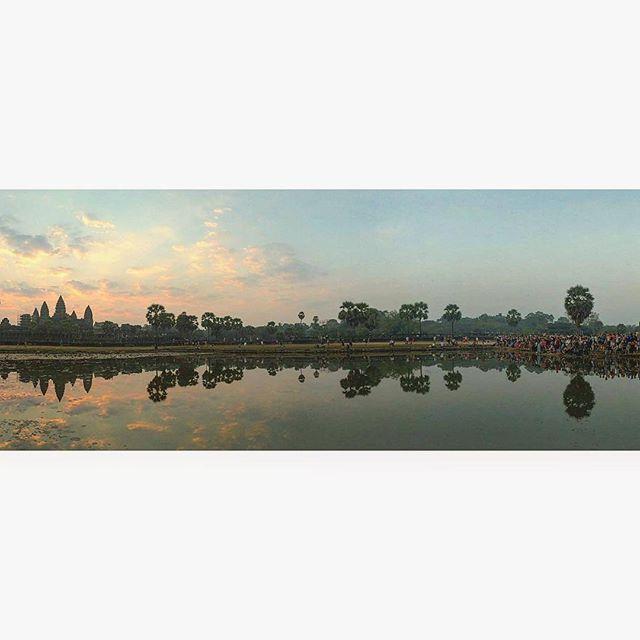 Sunrise catcher in Cambodia.