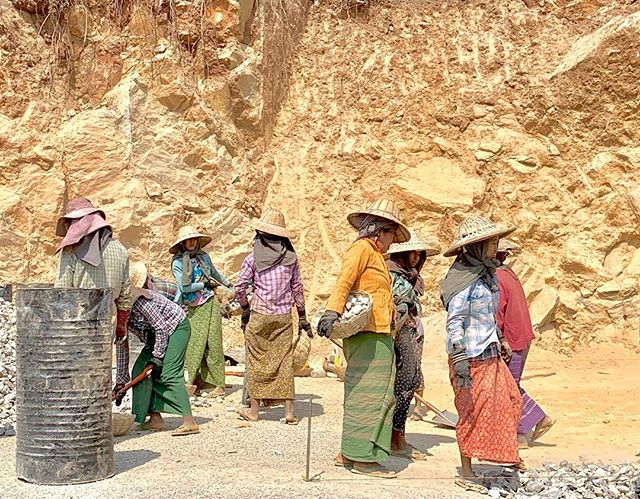 Women building Myanmar.