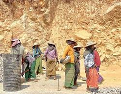 Women building Myanmar.