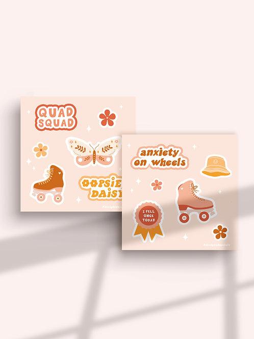 Rollerskating Sticker Pack