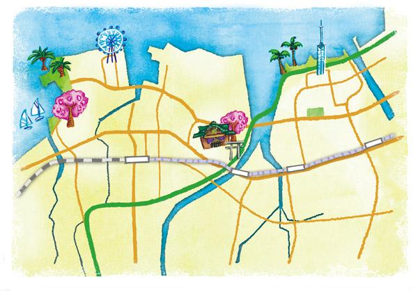 姪浜イラストマップ