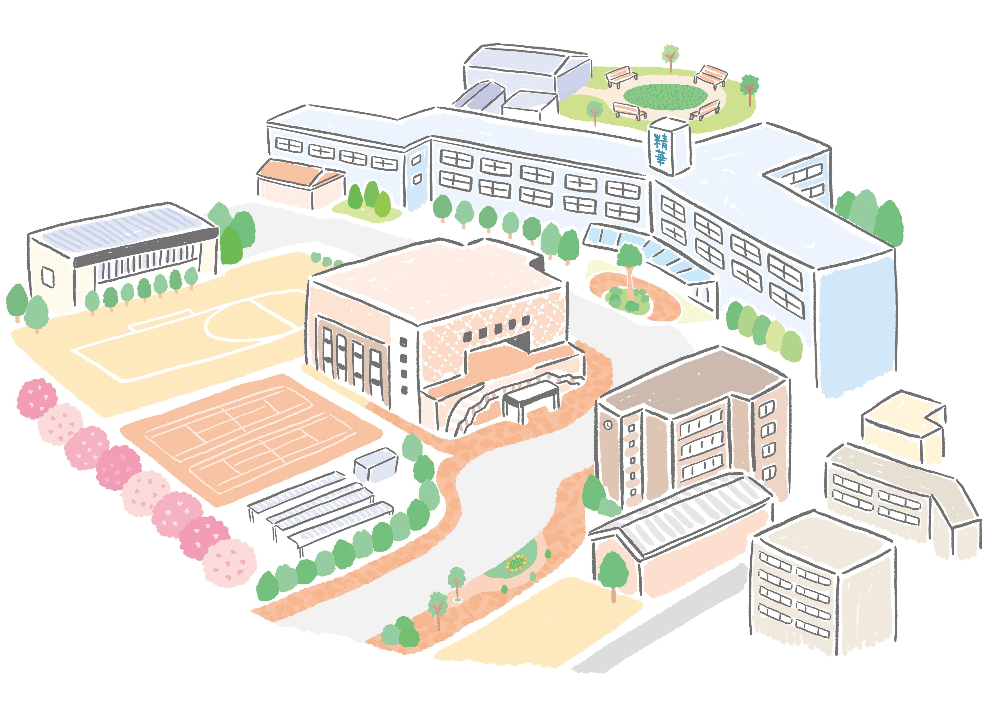 精華女子短期大学 キャンパスマップ