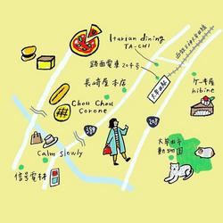 大牟田イラストマップ