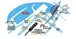門司港 イラストマップ