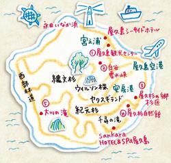 屋久島イラストマップ
