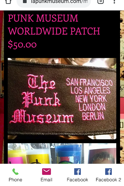Commemorative punk museum patch