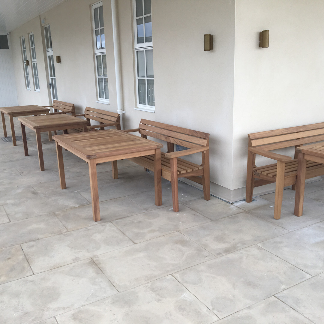 Burdon Teak Tables at The Briardene Whit