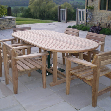 Hartlepool 2400 x 1200 Teak Table & Rhap