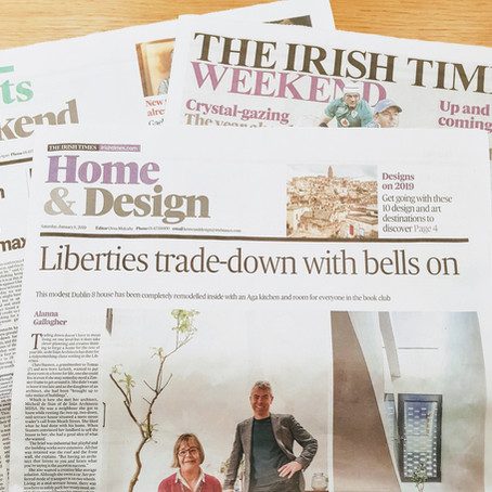 Front Page Feature on Irish Times
