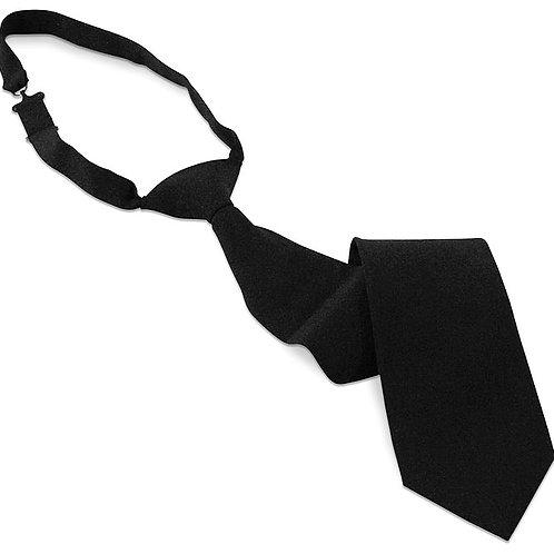 "Budget Banded Poplin Necktie - 3"" Wide"