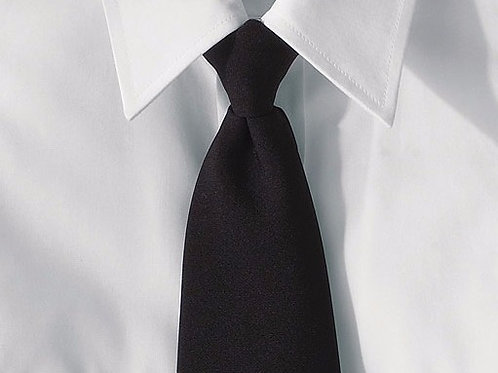 "Clip-On Poplin Necktie -3"" Wide"