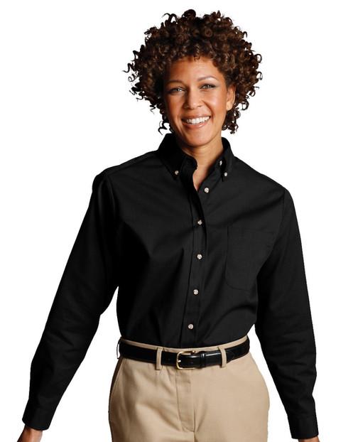 17f79443950495 Poplin Button Down Collar Shirt-Women s