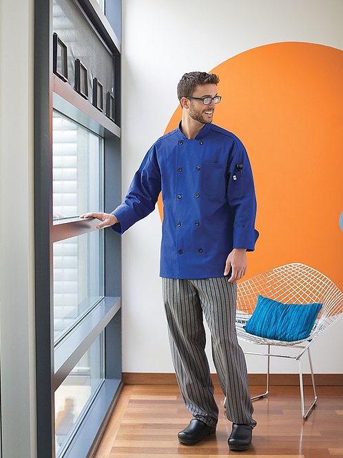Yarn-Dyed Baggy Chef Pant