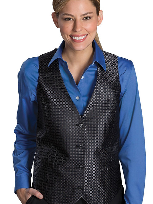 Grid Brocade Vest-Women's