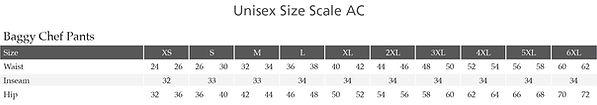Edwards Garment Size Chart