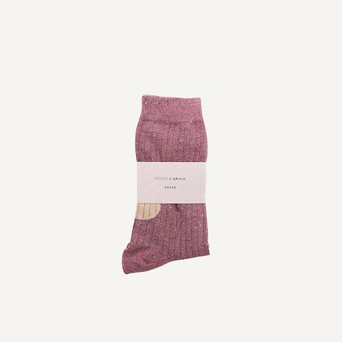 Socks • burgundy