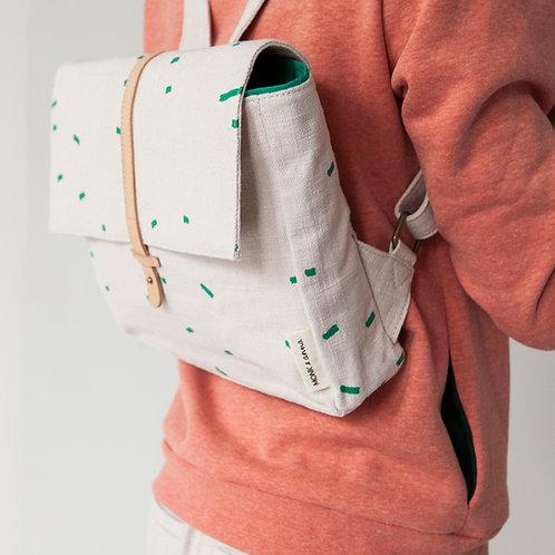 Kodomo backpack • emerald green stripes