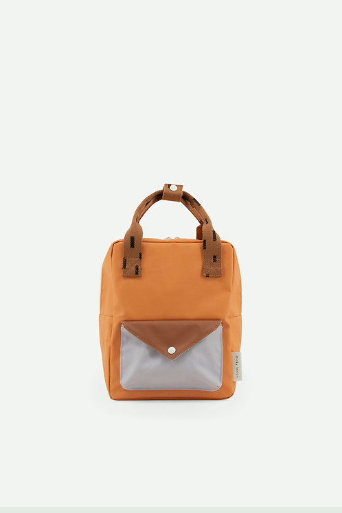 small backpack sprinkles | envelope | apricot orange + cinnamon brown