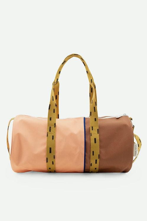 duffle bag large sprinkles | lemonade pink + sugar brown
