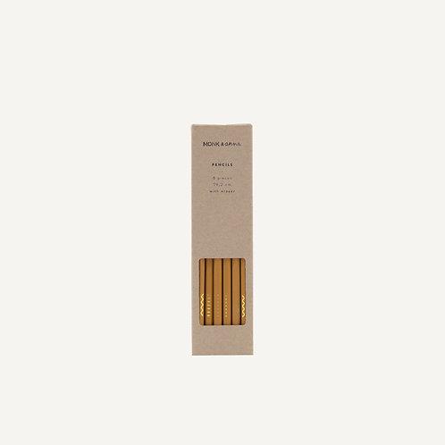 Pencils • shapes & quotes • caramel fudge