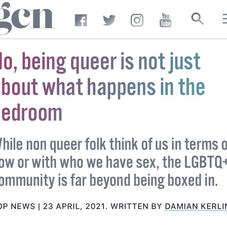 No, being queer is not just about what happens in the bedroom   GCN