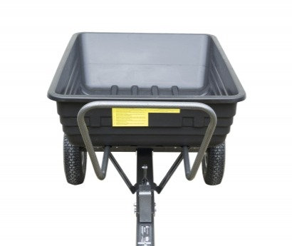 Handy 295kg (650lb) Poly Body Towed Dump Cart