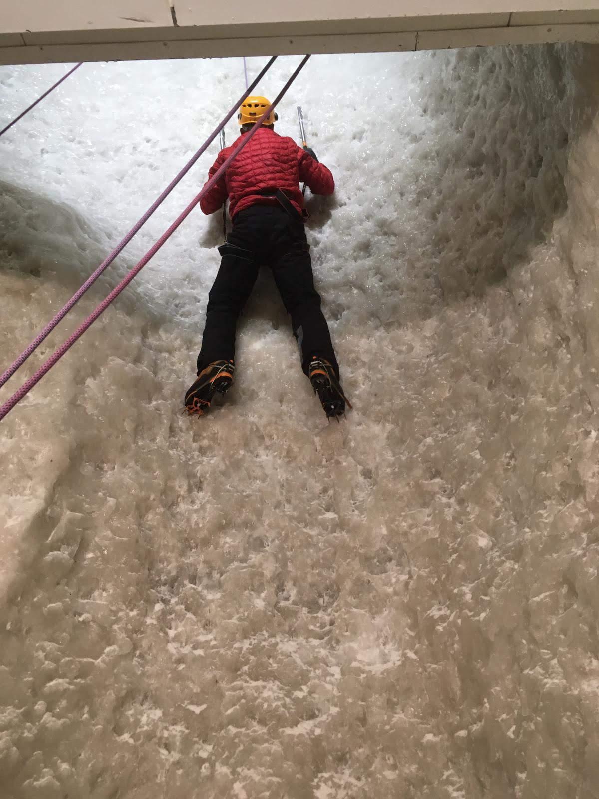 Ice Wall Climbing