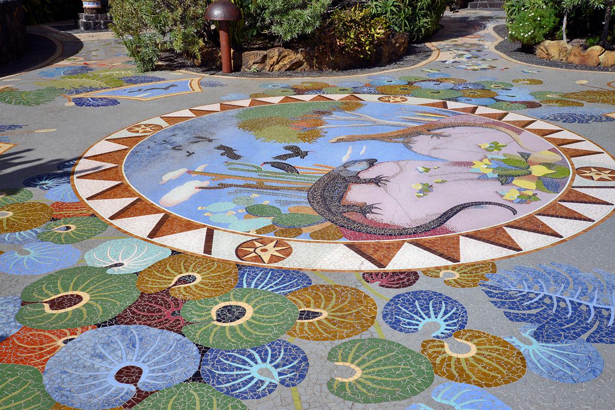 La Palma, Plaza la Glorieta, Mosaike