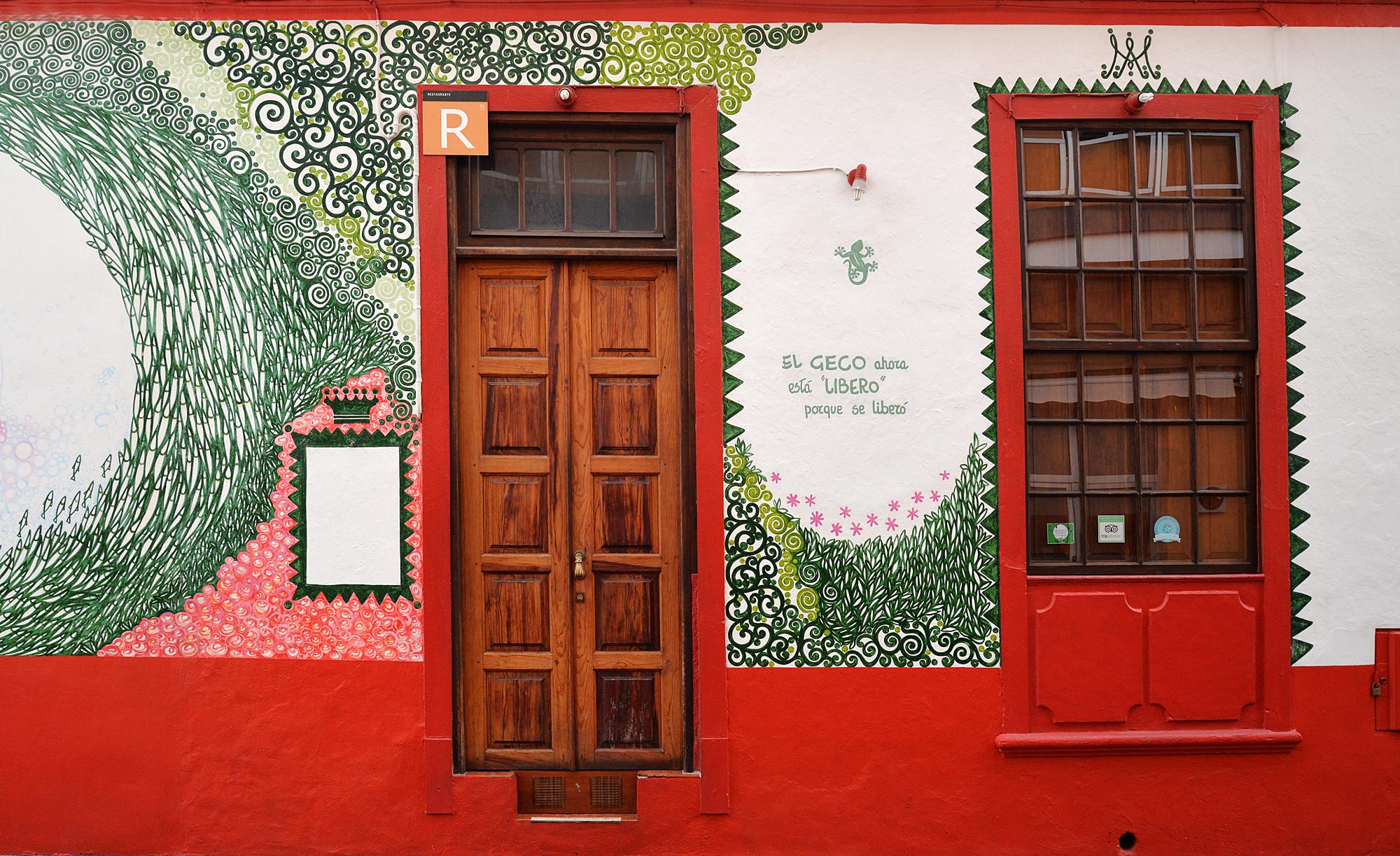 La Palma, Los Llanos, bunte Türen