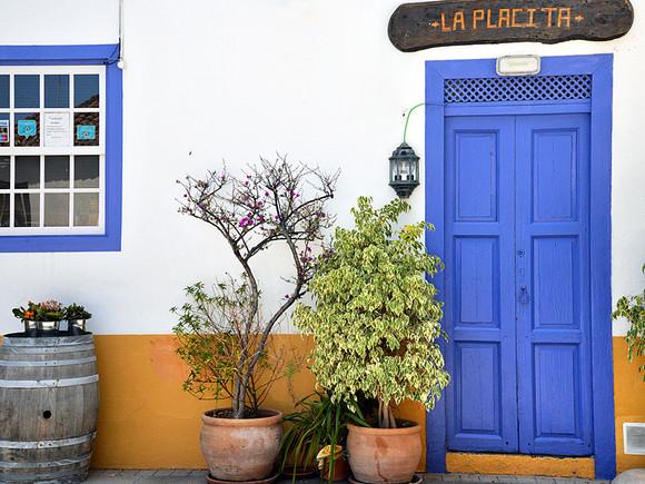 La Palma, San Andres, blaue Tür