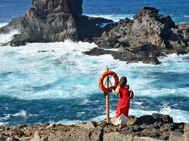 La Palma, Fotoshooting am Meer