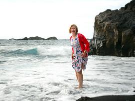 La Palma, Frauen Shooting am Meer für eine Zeitschrift