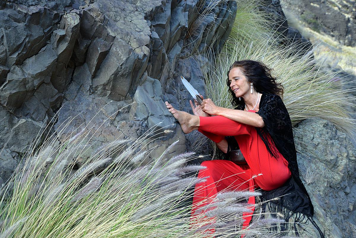 La Palma, Frauen Shooting in der Caldera