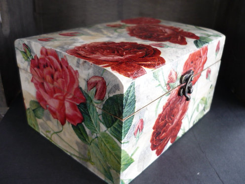 Red Roses Decoupage box