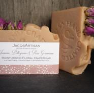 Floral pamper coconut milk bar pink clay