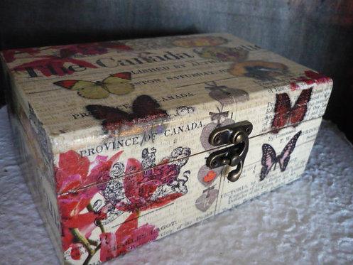 The Canada Gazette Decoupage Box