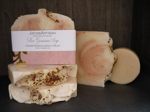 rose geranium soap bar 120g