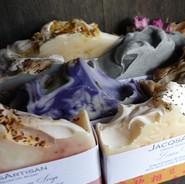 JacqsArtisan Soap 120g bars Various.JPG