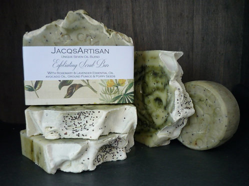 JacqsArtisan Exfoliating scrub soap bar 120g