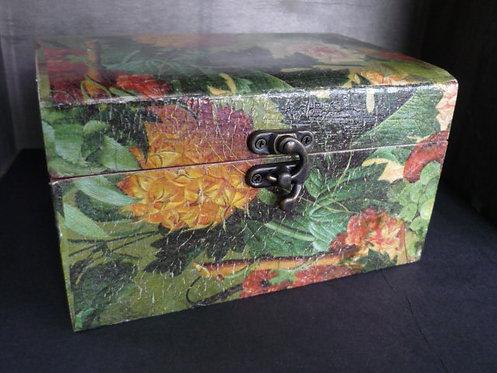 Green Tropic Decoupage Box