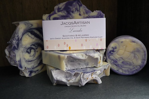 Lavender soap with kaolin large 120g bar